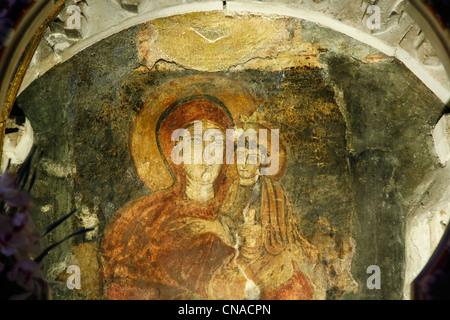 Italy, Calabria, Rossano, Maria Achiropita in the cathedral Santa Maria Assunta - Stock Photo