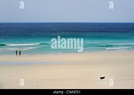 United Kingdom, Scotland, Outer Hebrides, Isle of Barra, beach behind the Barra airport - Stock Photo