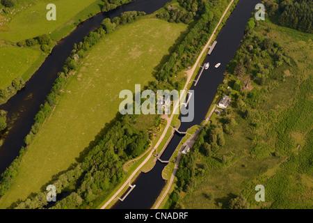 United Kingdom, Scotland, Highland, Caledonian Canal which links the east coast to west coast of Scotland south - Stock Photo