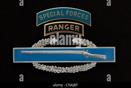 us-army-special-forces -and-ranger-dress-tabs-over-a-combat-infantry-cnaj8f jpg