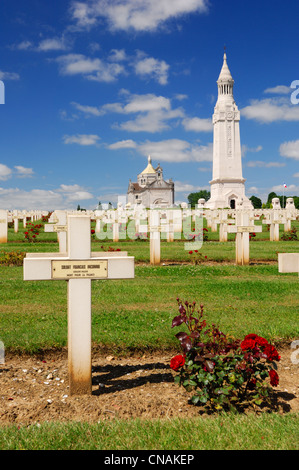 France, Pas de Calais, Ablain Saint Nazaire, necropole de Notre Dame de Lorette, Tomb of the Unknown Soldier French - Stock Photo