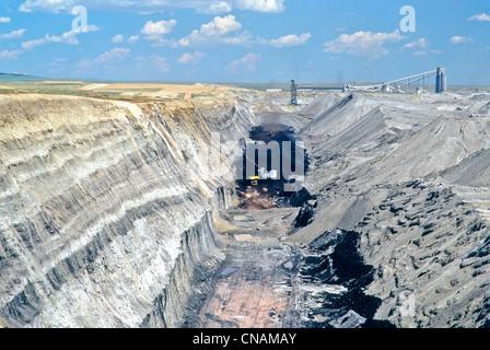 Coal surface mine, overburden. - Stock Photo