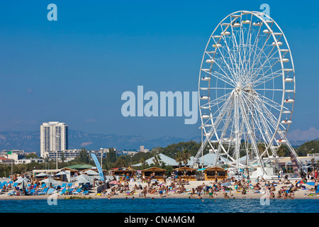 France, Bouches du Rhone, Marseille, the Prado beaches, Bonneveine beach - Stock Photo