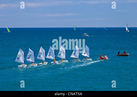 France, Herault, Palavas Les Flots, sailing school - Stock Photo