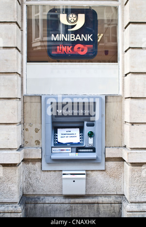 An 'out of order' ATM 'Link' cash machine - Stock Photo