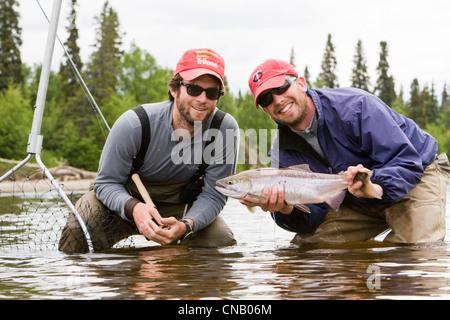 Salmon fishermen bristol bay alaska usa stock photo for Salmon fishing bay area