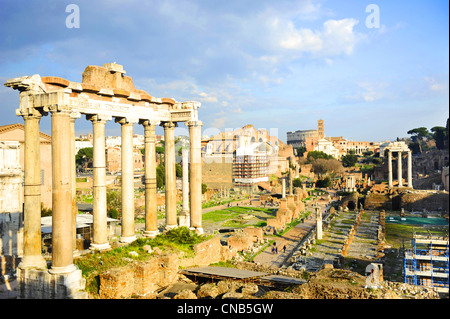 The Roman Forum (Latin: Forum Romanum) - Stock Photo