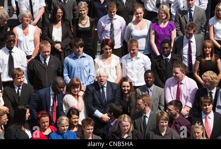 Apprentice Scheme with London Mayor Boris Johnson - Stock Photo