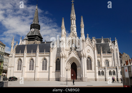 France, Nord, Roubaix, church of Saint Martin de Roubaix, from the 9th century reconstructed from 1468 to 1521 and - Stock Photo