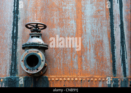 Rusted machinery, Former Grytviken Whaling Station, South Georgia - Stock Photo
