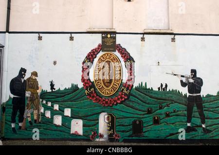 United Kingdom, Northern Ireland, Belfast, Protestant western district of Shankill, Shankill road, murals - Stock Photo