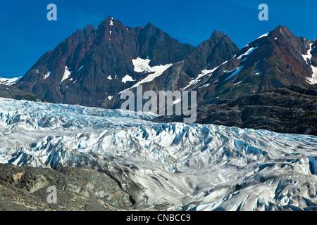 Riggs Glacier, Glacier Bay National Park & Preserve, Southeast Alaska, Summer - Stock Photo
