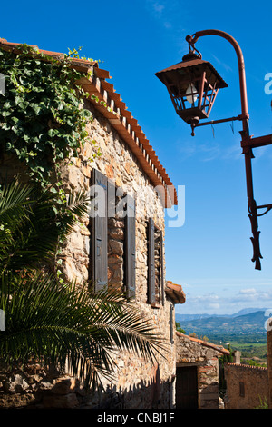 France, Pyrenees Orientales, Castelnou labelled Les Plus Beaux Villages de France (The Most Beautiful Villages of - Stock Photo