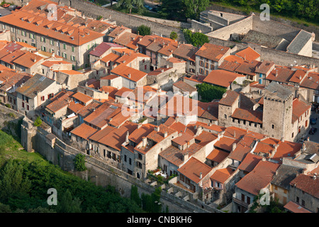 France, Pyrenees Orientales, Villefranche de Conflent, medieval city of the 11th century and fortified by Vauban - Stock Photo