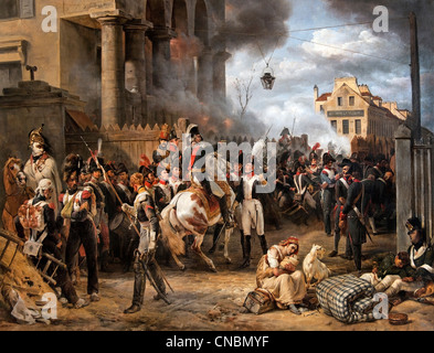 The Barrier of Clichy - La Barrière de Clichy 1820  by Horace Vernet  France French - Stock Photo