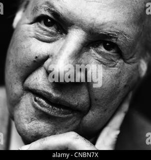 Imre Kertesz, a writer, Nobel Prize laureate in literature - Stock Photo