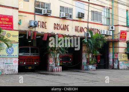 India, West Bengal, Calcutta, Fire Brigade Headquarters - Stock Photo