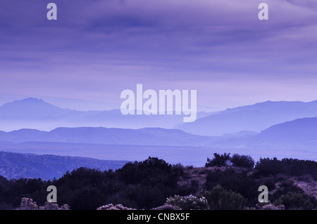 Arizona fire smoke in mountains outside of Phoenix - Stock Photo