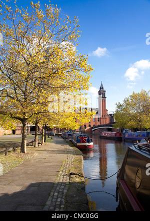 England, Manchester, Castlefield, Bridgewater Canal basin - Stock Photo