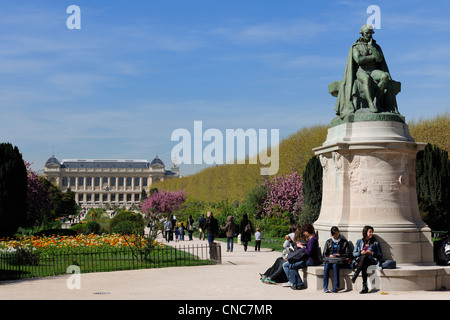 France, Paris, Museum of Natural History, the Plants Gardens and the Grand Gallery of the Evolution - Stock Photo