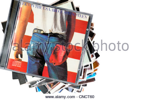 Bruce Springsteen Album Born in the USA, CD cases, England - Stock Photo
