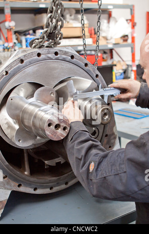 Engineer measuring - Stock Photo