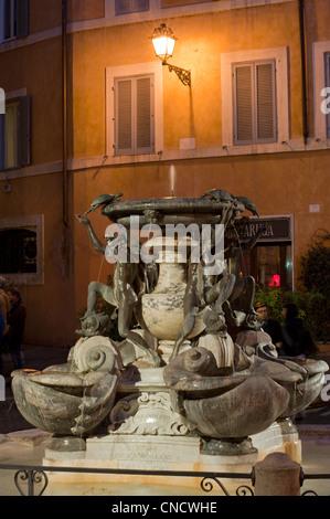 Fontana delle Tartarughe, designed by Giacomo della Porta. Piazza Mattei, Rome, Italy - Stock Photo