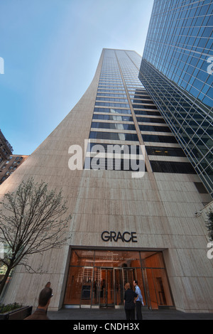 WR Grace Company building at 1114 Sixth Avenue in Manhattan, New York City - Stock Photo