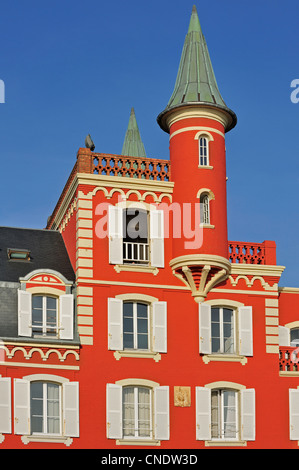 Hotel restaurant Les Tourelles at Le Crotoy, Bay of the Somme, Côte d'Opale / Opal Coast, France - Stock Photo