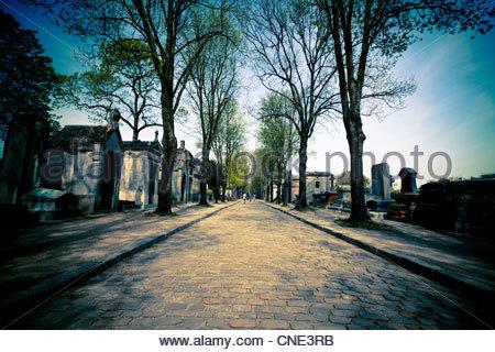 Père Lachaise Cemetery, Paris - Stock Photo
