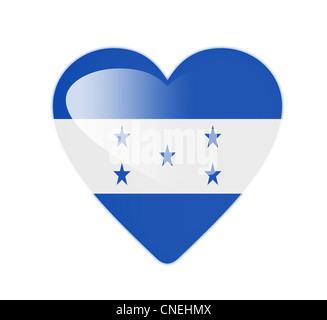 Honduras 3D heart shaped flag - Stock Photo