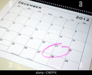 Popular myth has it that the world will end on 21st December 2012 - Stock Photo