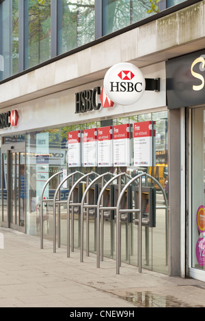 HSBC bank logo/sign, London, UK - Stock Photo