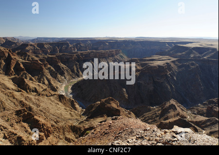 Fish River Canyon in Southern Namibia. - Stock Photo