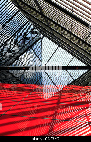 Abstract architecture: building lines, reflections and shadows - Stock Photo