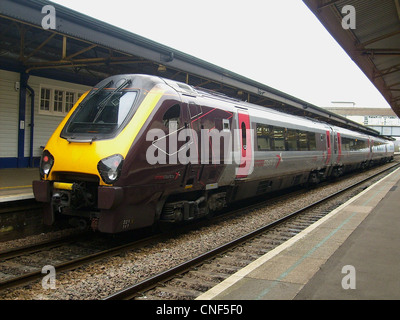 Bombardier Class 221 Super Voyager No. 221141 at Newton Abbot. - Stock Photo