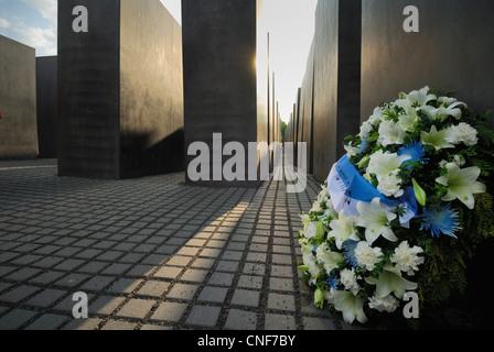Berlin. Germany. Memorial to the Murdered Jews of Europe aka Holocaust Memorial. - Stock Photo