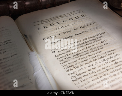 Prologue Spoken at Court before the Queen On her Majesty's Birth-Day 1704 (Poems On Several Occasions printed in - Stock Photo