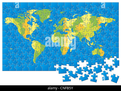 World map puzzle stock photo 165299300 alamy world map puzzle stock photo gumiabroncs Gallery