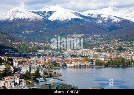 Lugano, lakefront, Switzerland, Ticino - Stock Photo