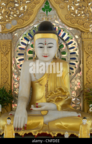 Buddha image. Kuthodaw Pagoda, Mandalay, Burma. Myanmar - Stock Photo