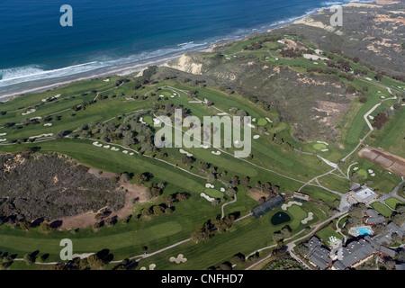 aerial photograph Torrey Pines Golf Course, La Jolla, California - Stock Photo