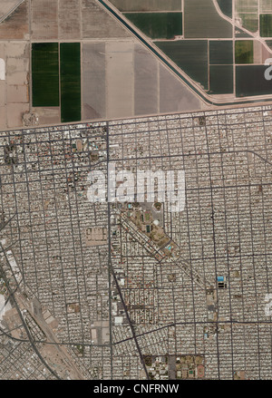 Aerial Photo Map Mexican American Border At Calexico Mexico - Aerial maps over mexican us border