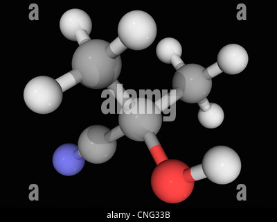 Acetone cyanohydrin molecule - Stock Photo