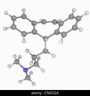 Cyclobenzaprine drug molecule - Stock Photo