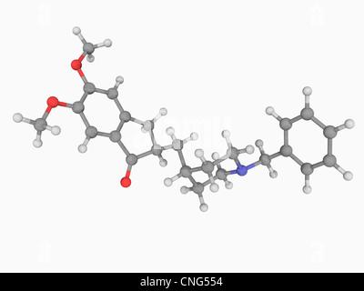 Donepezil drug molecule - Stock Photo