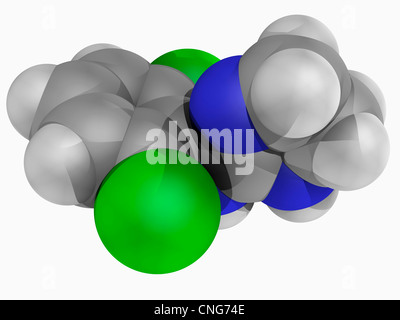 Clonidine drug molecule - Stock Photo