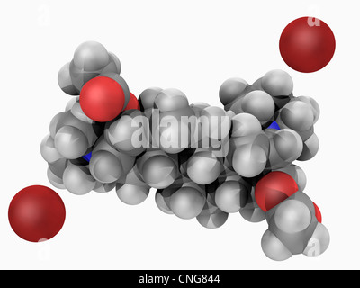 Pancuronium bromide drug molecule - Stock Photo