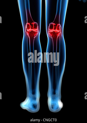 Knee pain  conceptual artwork - Stock Photo