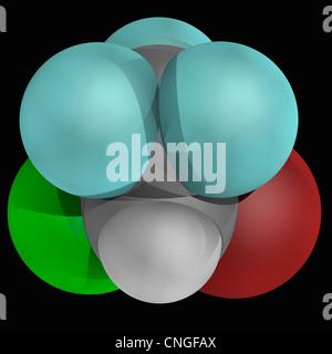 Halothane drug molecule - Stock Photo
